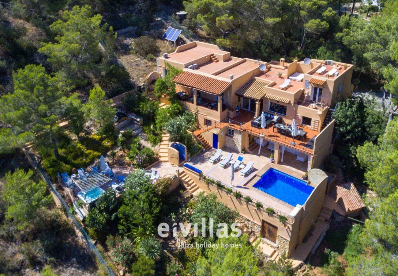 Vue aérienne de la Casa Capricho Ibiza