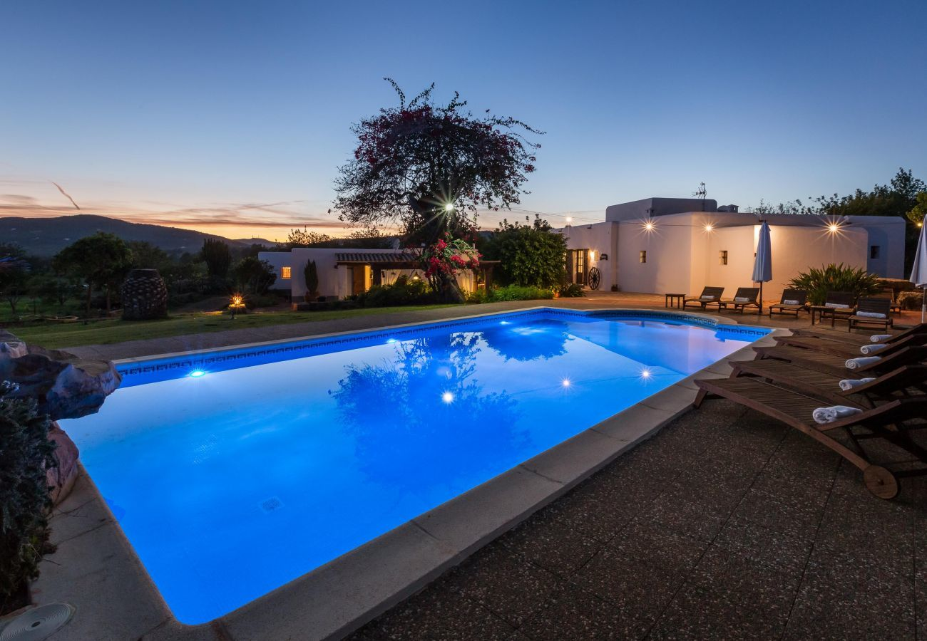 Piscine de la villa Canseres à Santa Eulalia