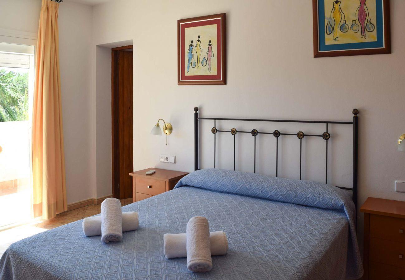 Une des quatre chambres de la Villa Coqueta